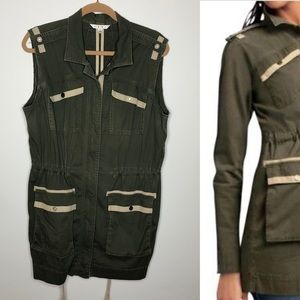 CAbi Jackets & Coats - Cabi 722 olive military anorak vest jacket Large